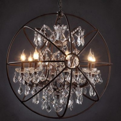 Люстра подвесная Loft it Foucaults orb crystal LOFT1897/6